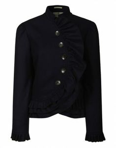 LiBErty FREEdom Curved Frill Jacket – Navy