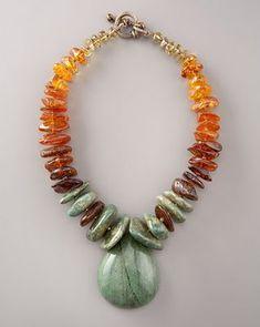 Steven Dweck Multi-stone Drop Necklace