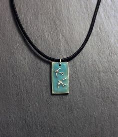 Two Swallows pendant  glow in the dark  by EarthlyCreature on Etsy