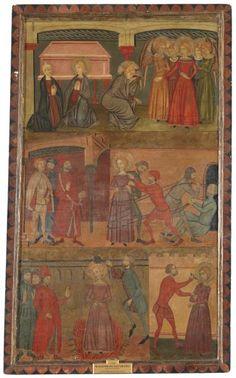 Maestro de Estimariú, Retablo de la leyenda de Santa Lucía, 1357 - 1385, Prado