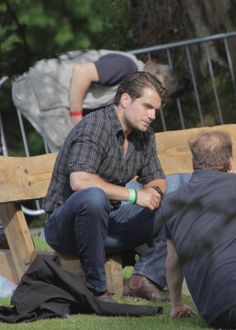 Henry Cavill attended the Groove Festival in Ireland yesterday