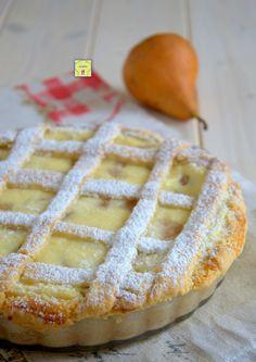 crostata ricotta e pere gp Easy Cake Recipes, Fruit Recipes, Gourmet Recipes, Sweet Recipes, Dessert Recipes, No Bake Desserts, Vegan Desserts, French Deserts, Ricotta Dessert
