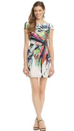 92ba85a758 A fun multiple-colored print can go from day to night Rent Designer Dresses