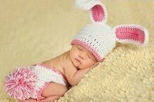 Gehaakt setje Konijntje Wit baby bunny new born photo crochet