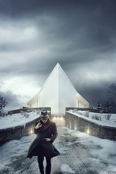 This image was created for Link Arkitektur AS for an architecture competition to redesign Rørvik Church (NO) - that sadly burnt down in 2013. We love the simplicity and the mood of this scene. Hope you do so! www.brickvisual.com http://architizer.com/firms/brick-visual-1/