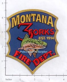 Montana - 3 Forks MO Fire Dept Patch #Patch