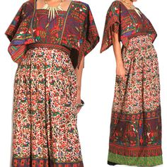 1960s Vintage Bohemian Gypsy Maxi Dress. A curated selection of designer & unique vintage by A Part of the Rest