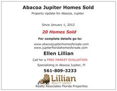 http://www.abacoajupiterhomesforsale.com/abacoa-real-estate/  If you are looking for Abacoa homes for sale, townhomes or condos with a family friendly community look no more. MLS listing and real estate information all can be found for free on our homepage.