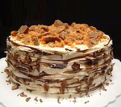 Butterfinger Cake For Dad's Birthday