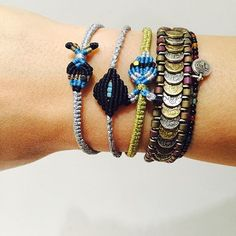 Let's start! #armparty #armcandy #jewelicious #jewelicious_lovemade #handmade #macrame #bracelet #fish #boho #jewels