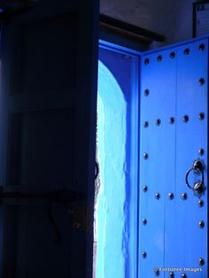A typical Blue doorway onto Chefchouen, Morrocco ,2012