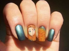 """Nail Art Inspired by Disney's """"Brave"""""""