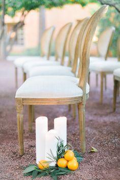 ceremony seating - photo by Andrew Jade Photography http://ruffledblog.com/scottsdale-wedding-inspiration-with-citrus