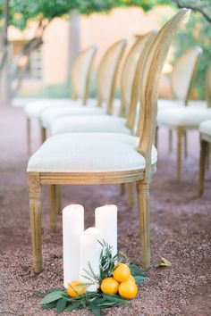 ceremony seating - photo by Andrew Jade Photography http://ruffledblog.com/scottsdale-wedding-inspiration-with-citrus