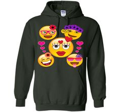 Cute Emoji Face Collage T-Shirt for Girls and Women