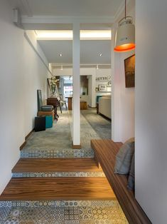 8 ideas for using concrete screed inyour home, as shown in the trendy designs ofthese HDB flat interiors.