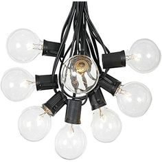 Patio String Lights with 125 Clear Globe Bulbs - Outdoor String Lights - Market Bistro Café Hanging String Lights - Patio Garden Umbrella Globe Lights - Black Wire - 100 Feet Patio String Lights, Lantern String Lights, Globe Lights, Light String, Pergola Lighting, Outdoor Lighting, Lighting Ideas, Novelty Lighting, Thing 1