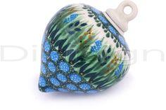 Polish Pottery 4-inch Ornament Christmas Ball | Boleslawiec Stoneware | Polmedia H4894G