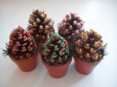 Christmas Crafts, Merry Christmas, Christmas Decorations, Pinecone Ornaments, Pine Cones, Diy And Crafts, Birthdays, Advent, Montessori