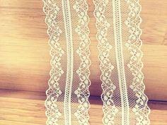 """Günstige heißer verkauf feine exquisite mesh spitze band elfenbein schwarz weiß 1 4/7 """"4 cm breite 15 meter hochzeit DIY heaband zakka spitze"""