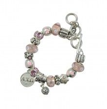 """""""AXO Diva"""" Bead Bracelet with AXO charm that reads """"Sisters Forever"""" on the back. Adjustable toggle closure. By Navika Girl"""