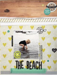 LO for Kreativ Scrapping Studio Calico, Learning, Beach, Connect, Layouts, Scrapbooking, Creative, The Beach, Studying