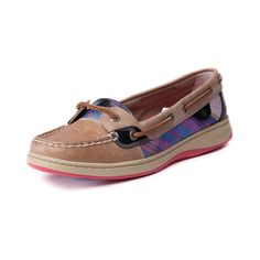 Shop for Womens Sperry Top-Sider Angelfish Boat Shoe in Tan Plaid at Journeys Shoes. Shop today for the hottest brands in mens shoes and womens shoes at Journeys.com.Classic skimmer from Sperry featuring a leather upper with multicolored plaid accenting, top stitching on toe, and leather laces.