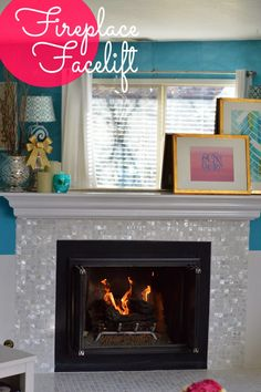 livin' the glam life: Fireplace Facelift