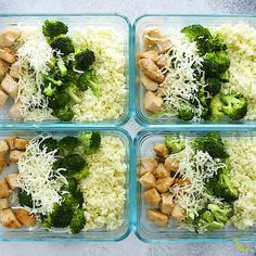 fitness meals Low carb cheesy chicken and rice is a delicious low carb lunch option! Pan-fried chicken breast and broccoli are smothered with cheese and served over cauliflower rice. Filling but light with only 5 g carbs and 43 g of protein. Clean Recipes, Easy Healthy Recipes, Lunch Recipes, Healthy Snacks, Healthy Eating, Healthy Tuna, Healthy Carbs, Heathy Lunch Ideas, Lunch Ideas Work