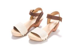 Really cute, but $160 for a sandal?  Clogs. wooden Clogs Summer shoes. Amy Milk. A by ImeldaShoes, $160.00