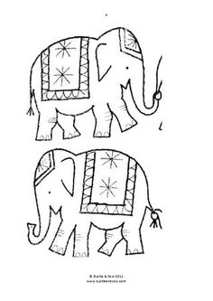 ISSUU - Marching Elephants Applique by Bustle & Sew