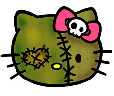 Image detail for -Hello Kitty Zombie Stuff Hello Kitty Drawing, Hello Kitty Art, Hello Kitty Tattoos, Hello Kitty Halloween, Zombie Face, Cute Zombie, Zombie Head, Ouija, Michael Myers