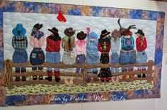 Patchouli Moon Studio~Girls on the Fence quilt