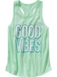 Girls Old Navy Active Text-Graphic Tanks