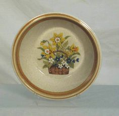 Mikasa Japan Garden Bouquet F5815 Speckled White Rimmed Cereal or Soup  Bowl #Mikasa