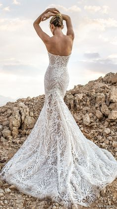 lian rokman 2017 bridal strapless sweetheart neckline full embellishment elegant trumpet wedding dress chapel train (diamond) bv -- Lian Rokman 2017 Wedding Dresses