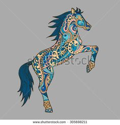 Stock Images similar to ID 283088084 - patterned head of the horse on...