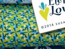 Jersey Elephant Love Bloomy Diamonds türkis 0,5m