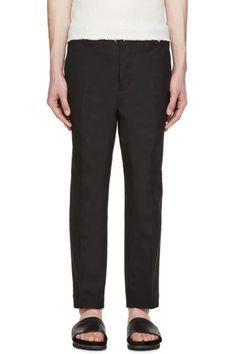 3.1 Phillip Lim - Black Tapered Saddle Trousers