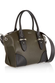 Army-green and black textured-leather (Calf) Zip fastening along top Comes with dust bag Weighs approximately 3.1lbs/ 1.4kg
