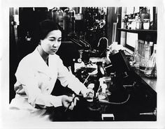 American chemist Ruby Sakae Hirose (1904-1960) at William S. Merrell Laboratories (Smithsonian Institution Archives).