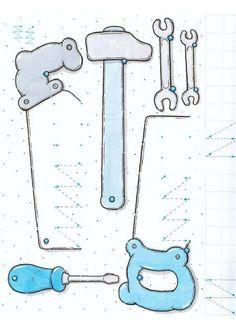 constructie schrijfpatronen, free printable / Grafomotricidad: