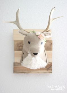 Adorable DIY Deer Head for a child's room! trendy family must haves for the entire family ready to ship! Free shipping over $50. Top brands and stylish products 🌿