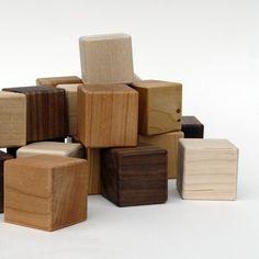 little sapling toys | organic building blocks: walnut, cherry, and maple