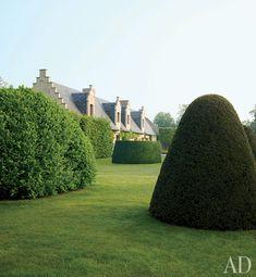 Garden of Axel Vervoordt in Belgium