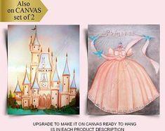 Nursery Wall Art Prints, Kids Decor, Home Decor by handpainting Kids Decor, Home Decor, Nursery Wall Art, Wall Art Prints, Disney Characters, Fictional Characters, Disney Princess, Canvas, Handmade Gifts
