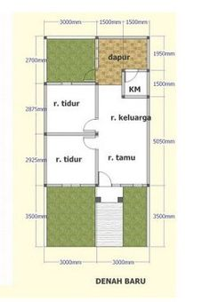 denah rumah minimalis tipe 36 House Layout Design, House Layout Plans, Simple House Design, Minimalist House Design, Small House Plans, House Layouts, Minimalist Home, Home Design Decor, Dream Home Design