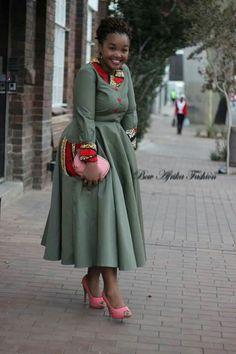 Waist Skirt, High Waisted Skirt, Kitenge, Wardrobes, African Fashion, Casual Outfits, Victorian, Bows, Shirt Dress