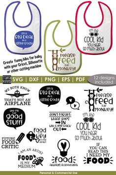 Decorate baby bibs and shirts with this bundle of 12 baby svg sayings using your Cricut or Silhouette cutting machine #ad Funny Baby Bibs, Funny Babies, Baby Shower Clipart, Diy Baby Gifts, Baby Svg, Free Baby Stuff, Nice Body, Cool Kids, New Baby Products