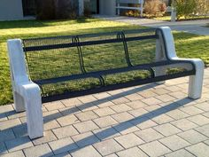 Bancs grillagés - GTSM Outdoor Sofa, Outdoor Furniture, Outdoor Decor, Banquette, 3, Home Decor, School Building, Metal Trellis, Senior Living Homes